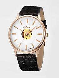 2015 New Men's Business Watch with Japanese Precision Quartz Movement & Genuine Leather Strap Quartz Watches for Men