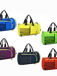 Multifunctional Waterproof Nylon Folding Travel Bag Fitness Package Bucket Shoulder Bag Mountaineering Riding