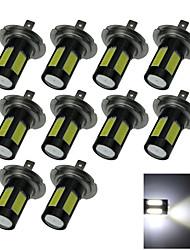 10X High Power 4 COB 1 Cree LED H7 Bulb White Fog Light Foglight PX26d 25W AC/DC 12-24V H160