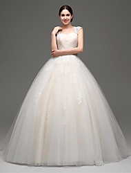 Princess Floor-length Wedding Dress -Straps Tulle