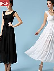 Muairen®Women'S Elegant Dress Waist Chiffon Dress