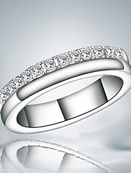 Guaranteed 100% silver plated women durable party wedding ring