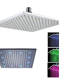 12'' LED Square Bathroom Bath Rain Shower Head Only Brass Chrome Finish