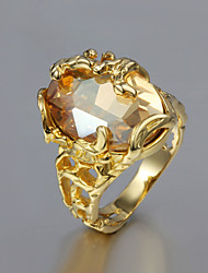 Z&X® 18k Gold Fashion Zircon Hollow Out Statement Rings Party/Daily