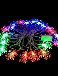2w 4 metro luci lampadina diametro esterno 20pcs modellazione illuminazione principale stringa fiocco di neve, colore rgb