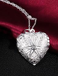 Modische Halsketten Medaillons Halsketten Schmuck Party / Alltag Modisch versilbert Silber 1 Stück Geschenk