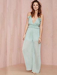 Women's American Apparel Deep V Neck Backless Fashion Jumpsuits