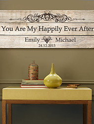 E-HOME® Personalized Signature Canvas Frame-You Are My Happily Ever After