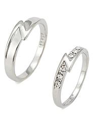 couples déchargent bague en diamant de mode pour vous PROMIS anneaux pour les couples