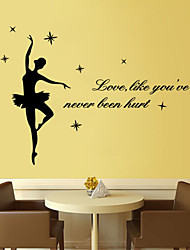 Wall Stickers Wall Decals Style Ballet PVC Wall Stickers
