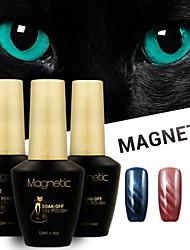 Azure 3 Pcs/Lot 3D Magnetic Cat Eye Gel Nail Polish Magnetic Nail Polish Gel Set (#51+#52+#53)