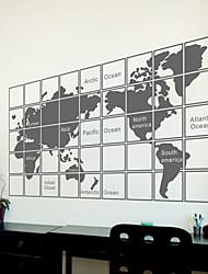 stickers muraux autocollants de mur, moderne la carte des pvc mondial stickers muraux