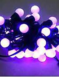 6w 5 metro di diametro esterno lampadina 50pcs ha condotto le luci della stringa di modellazione piccole luci a sfera, colore viola