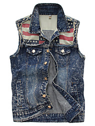 Men's Fashion Spell Washed Slim Denim Vest