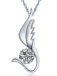 Angel's wing necklace, 925 silver