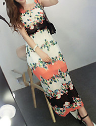 Women's Bohemian Chiffon Waist Dress