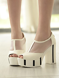 Women's Shoes Rough Heel with Circle Toe Sandals More Color