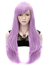 70cm Style Natural Straight Fashion Women Party Wigs Heat Resist Synhtetic Cosplay costume Wig Lilac