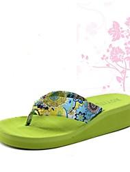 Chaussures Femme - Extérieure - Noir / Bleu / Jaune / Vert / Beige - N / A - Tongs - Chaussons - Tissu