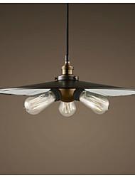 Industrial LOFT Electroplating Antique Grey 3-light Pendant Light