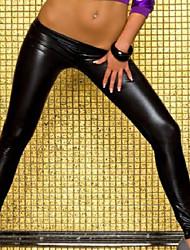 Low Waist Black PU Leather Pants Halloween Sexy Uniforms