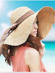 Mujer Sombrero Floppy Casual - Verano - Lino/Paja