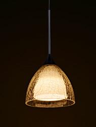 Glass Modern Bar Pending Single Lamp with LED Light Source.