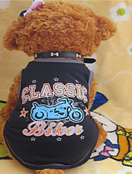 Holdhoney Black And The Motorcycle Heart Cotton Vest For Pets Dogs #LT15050137