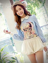 Pink Doll®Women's Casual/Print Long Sleeve Regular Shirt