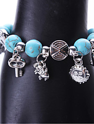 Women's Party/Casual Alloy/Resin Vintage Clover/Butterfly/Key Charm Bracelet