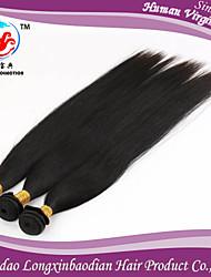 """trois faisceaux 8-26 """"soie style de mode 6a de couleur naturelle droite 100% vierge briazilian de trame de cheveux humains"""