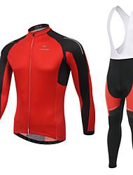 WEST BIKING® Men's MTB Clothing Suit Wicking Cycling Bib Long Suit Breathable Long Sleeves Bib Pants
