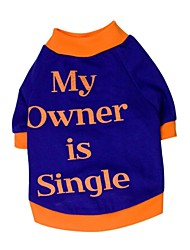 "Stylish ""My Owner is Single"" Pattern Big T-Shirt for Pets Dogs (Assorted Colors and Sizes) XL-XXL"