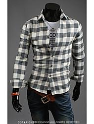 Hot Sell Summer Style 2015 Brand Long-Sleeve Shirt Men Clothes Mens Shirts