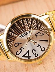 das mulheres t.watch banda de aço quartzo relógio analógico casuais