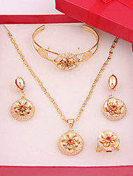 New Arrival Simple Alloy Gold Plated (Including Necklace, Earring, Bracelet) Jewelry Sets