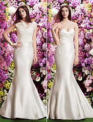 Lan Ting Trumpet/Mermaid Wedding Dress - Ivory Court Train Sweetheart Lace / Satin