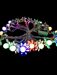 2w 4 metro luci lampadina diametro esterno 20pcs modellazione illuminazione principale stringa di girasole, colore rgb