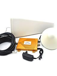 Mini 3G W-CDMA 2100MHz + GSM 900MHz dual band telefone celular booster de sinal, telefone celular 3G GSM repetidor de sinal de antena +