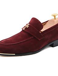 Men's Shoes Wedding Faux Suede Loafers Black/Blue/Burgundy