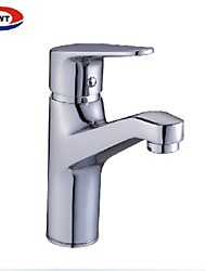 solide contemporaine en laiton lavabo finition faucet- -chrome