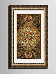 E-HOME® Framed Canvas Art, Retro Pattern Framed Canvas Print
