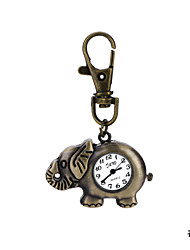 Classic Design Unique Retro Style Elephant Pocket Watch Key Ring Watch for Men Women Ladies Student Gift Cool Watches Unique Watches