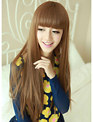 Japan and South Korea Fashion  Flaxen Qi Liu Hai Long Straight Hair Wig