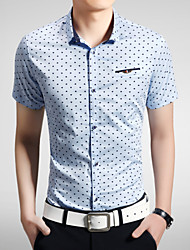 2015 Casual Quality Cotton Fashion Men's Short Sleeve Shirt 3 Color