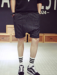 Men's Stripe Shorts Casual Shorts