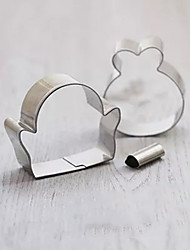 3 Pieces Cartoon Penguin Shape Cookie Cutters Set Fruit Cut Molds Stainless Steel
