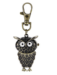 Hot Sale Vintage Antique Style Vivid Owl Pocket Watch Key Ring Watch For Men Women Best Gift Cool Watches Unique Watches