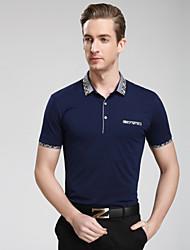 Men's Casual/Work/Sport/Plus Sizes Pure Short Sleeve Regular Polo T shirt(Cotton/Lycra)