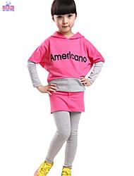 Children Winter Kids Girls Long Sleeve Blouse Top & Pant Skirt Set Clothes